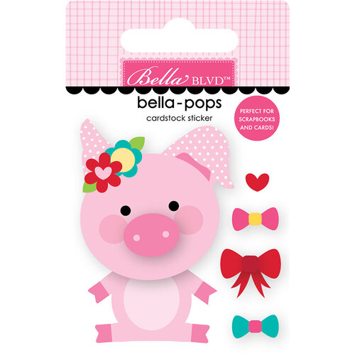Bella Blvd - My Candy Girl Collection - Stickers - Bella Pops - Pretty Piggy