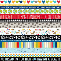 Bella Blvd - To The Moon Collection - 12 x 12 Double Sided Paper - Borders