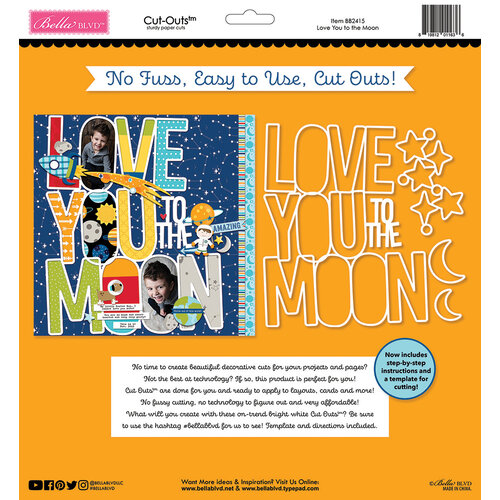 Bella Blvd - To The Moon Collection - Cut Outs - Love You To The Moon