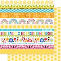 Bella Blvd - You Are My Sunshine Collection - 12 x 12 Double Sided Paper - Borders