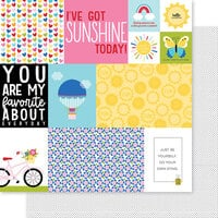 Bella Blvd - You Are My Sunshine Collection - 12 x 12 Double Sided Paper - Daily Details