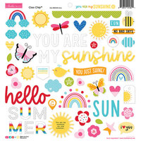 Bella Blvd - You Are My Sunshine Collection - Chipboard Icons
