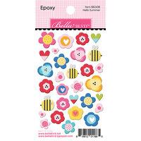 Bella Blvd - You Are My Sunshine Collection - Epoxy Stickers - Hello Summer