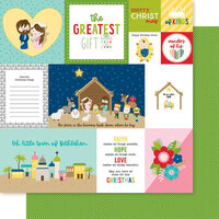 Bella Blvd - Let Us Adore Him Collection - 12 x 12 Double Sided Paper - Daily Details