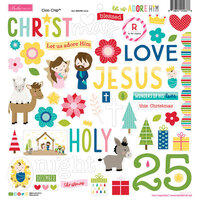 Bella Blvd - Let Us Adore Him Collection - 12 x 12 Chipboard Icons