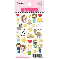 Bella Blvd - Let Us Adore Him Collection - Epoxy Stickers - Nativity
