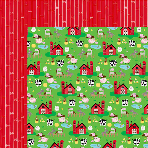 Bella Blvd - Barnyard Collection - 12 x 12 Double Sided Paper - On the Farm