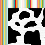 Bella Blvd - Barnyard Collection - 12 x 12 Double Sided Paper - Moo Cow