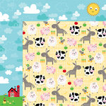 Bella Blvd - Barnyard Collection - 12 x 12 Double Sided Paper - Family Farm