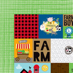 Bella Blvd - Barnyard Collection - 12 x 12 Double Sided Paper - Daily Details