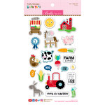 Bella Blvd - Barnyard Collection - Puffy Stickers - Icons