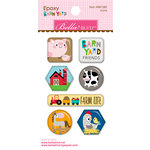 Bella Blvd - Barnyard Collection - Epoxy Stickers - Icons