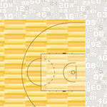 Bella Blvd - Basketball Collection - 12 x 12 Double Sided Paper - Tip-Off Time