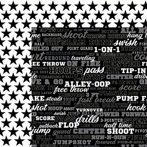 Bella Blvd - Basketball Collection - 12 x 12 Double Sided Paper - Play-by-Play