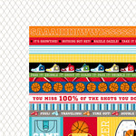 Bella Blvd - Basketball Collection - 12 x 12 Double Sided Paper - Borders and Details