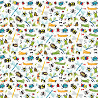 Bella Blvd - Bug Explorer Collection - 12 x 12 Double Sided Paper - Wiggle Wiggle