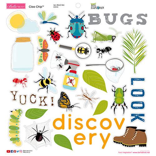 Bella Blvd - Bug Explorer Collection - Chipboard Icons