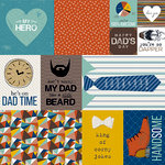 Bella Blvd - Dad Style Collection - 12 x 12 Double Sided Paper - Daily Details