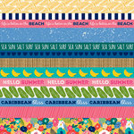 Bella Blvd - Island Escape Collection - 12 x 12 Double Sided Paper - Borders