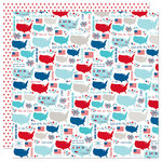 Bella Blvd - Fireworks and Freedom Collection - 12 x 12 Double Sided Paper - Land That I Love