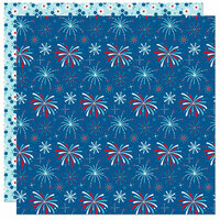 Bella Blvd - Fireworks and Freedom Collection - 12 x 12 Double Sided Paper - Boom Boom