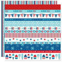 Bella Blvd - Fireworks and Freedom Collection - 12 x 12 Double Sided Paper - Borders
