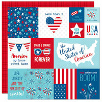 Bella Blvd - Fireworks and Freedom Collection - 12 x 12 Double Sided Paper - Daily Details