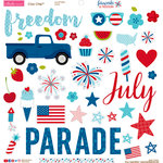 Bella Blvd - Fireworks and Freedom Collection - Chipboard Stickers - Icons