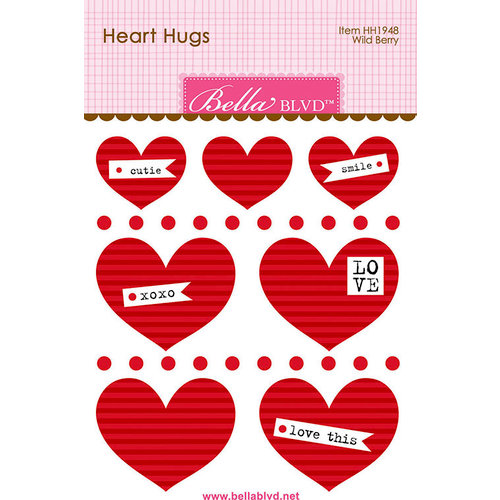 Bella Blvd - Legacy Collection - Heart Hugs - Wild Berry