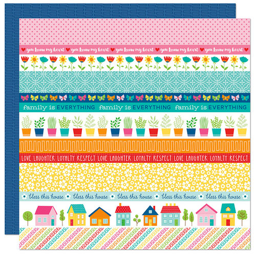 Bella Blvd - Home Sweet Home Collection - 12 x 12 Double Sided Paper - Borders