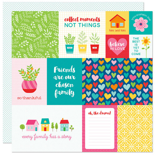 Bella Blvd - Home Sweet Home Collection - 12 x 12 Double Sided Paper - Daily Details