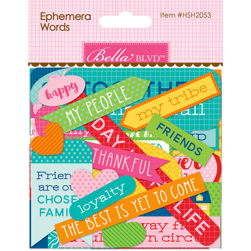 Bella Blvd - Home Sweet Home Collection - Ephemera - Words