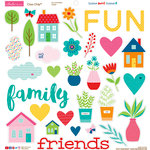 Bella Blvd - Home Sweet Home Collection - Chipboard Stickers - Icons