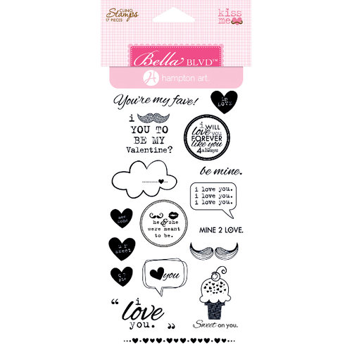 Bella Blvd - Hampton Art - Engaged at Last Collection - Cling Mounted Rubber Stamps - Kiss Me