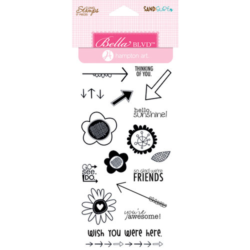 Bella Blvd - Hampton Art - Sand and Surf Collection - Cling Mounted Rubber Stamps