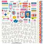 Bella Blvd - Mind Your Manners Collection - 12 x 12 Cardstock Stickers - Fundamentals