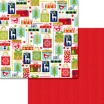 Bella Blvd - Merry Christmas Collection - 12 x 12 Double Sided Paper with Foil Accents - Giving