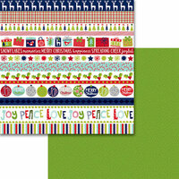 Bella Blvd - Merry Christmas Collection - 12 x 12 Double Sided Paper - Borders