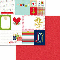 Bella Blvd - Merry Christmas Collection - 12 x 12 Double Sided Paper with Foil Accents - Daily Details
