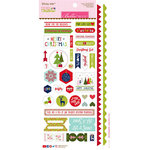 Bella Blvd - Merry Christmas Collection - Sticky Mix - Cardstock Stickers