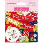 Bella Blvd - Merry Christmas Collection - Ephemera with Foil Accents - Icons