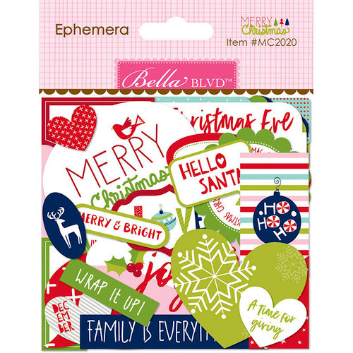 Bella Blvd - Merry Christmas Collection - Ephemera - Words