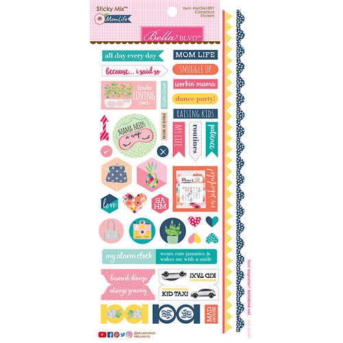 Bella Blvd - Mom Life Collection - Cardstock Stickers - Sticky Mix
