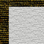 Bella Blvd - Make Your Mark Collection - 12 x 12 Double Sided Paper with Foil Accents - Real Deal