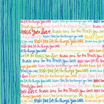 Bella Blvd - Make Your Mark Collection - 12 x 12 Double Sided Paper - Make Time