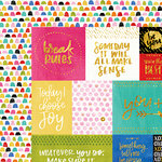 Bella Blvd - Make Your Mark Collection - 12 x 12 Double Sided Paper with Foil Accents - Daily Details