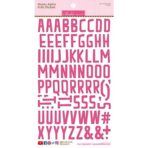 Bella Blvd - Puffy Stickers - Wonky Alphabet - Punch