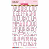 Bella Blvd - Puffy Stickers - Wonky Alphabet - Cotton Candy