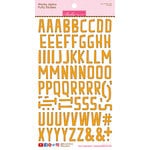 Bella Blvd - Puffy Stickers - Wonky Alphabet - Orange