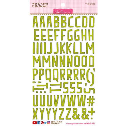 Bella Blvd - Puffy Stickers - Wonky Alphabet - Pickle Juice